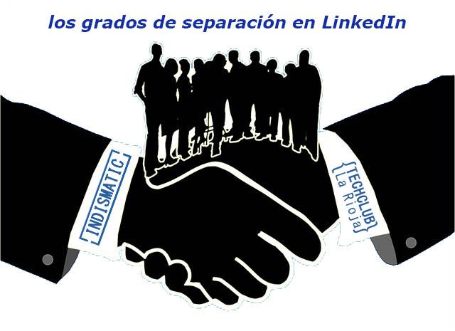 Los grados o niveles de separación de los contactos en LinkdIn