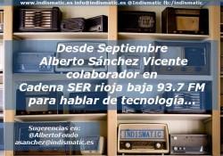 Sección Tecnológica en Cadena Ser rioja de Alberto Sánchez