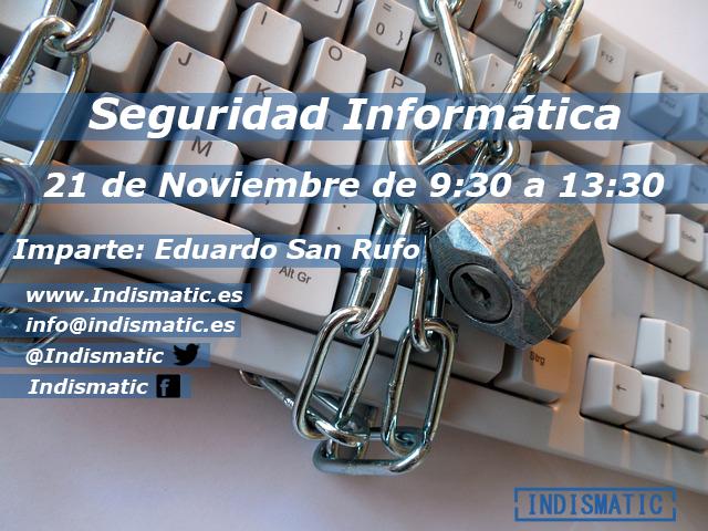 taller seguridad informática en Haro por Eduardo San Rufo Ecay