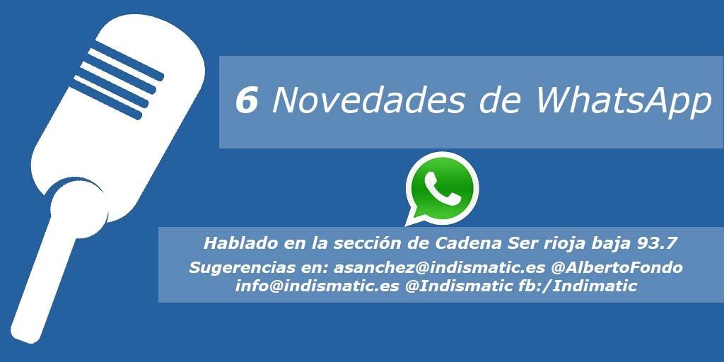 6 Novedades de WhatsApp
