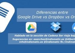 Diferencias entre Google Drive vs Dropbox vs OneDrive
