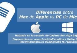 Diferencias entre Mac de Apple vs PC de Microsoft