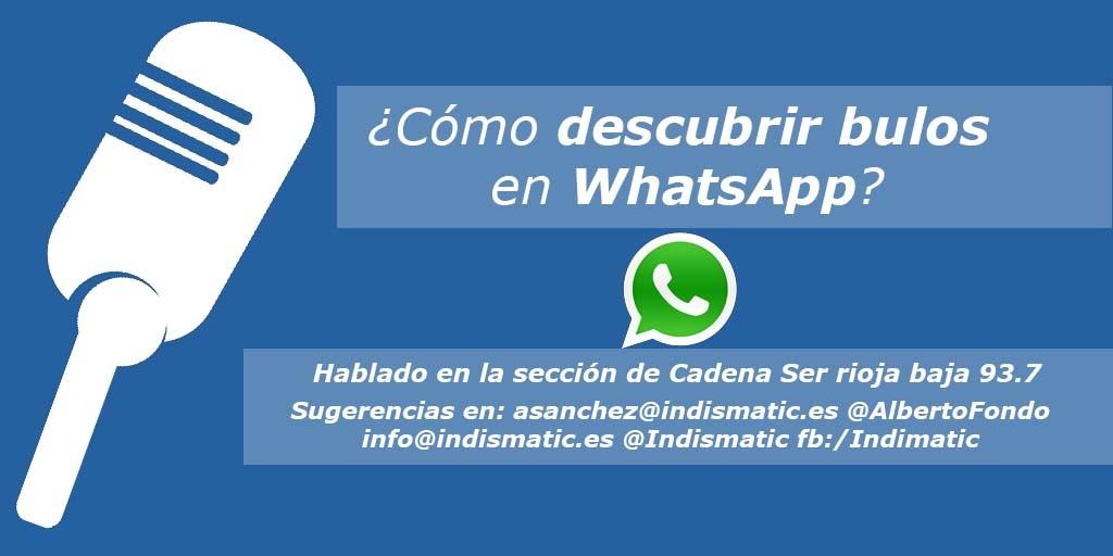 ¿Cómo descubrir bulos en WhatsApp?