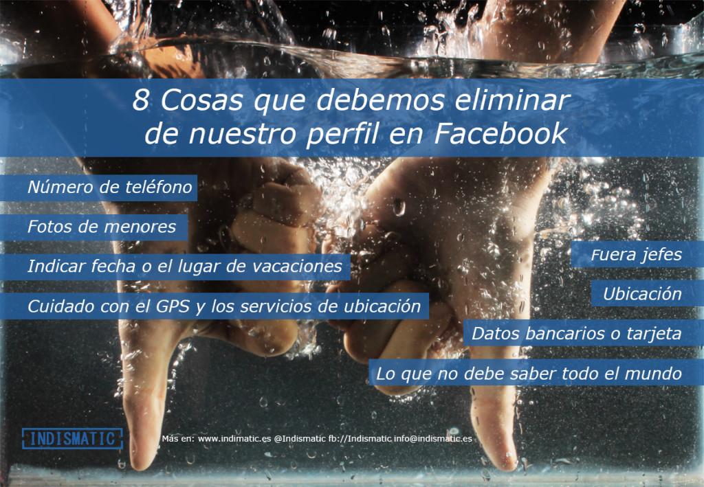 Infografía 8 Cosas que debemos eliminar de nuestro perfil en facebook