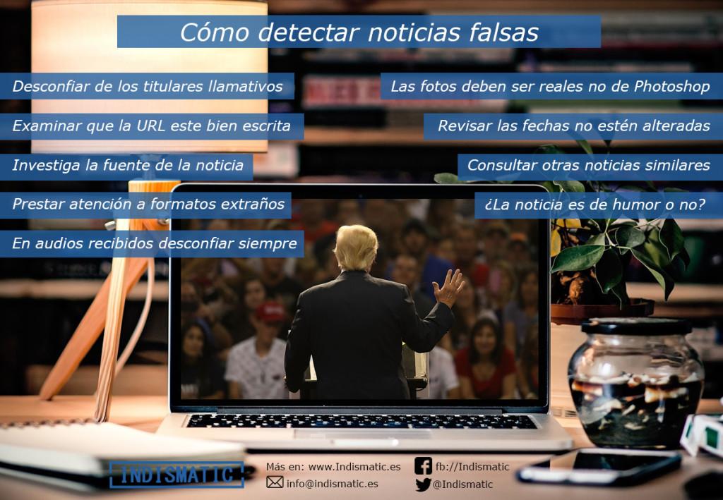 Infografía detectar Noticias Falsas