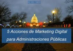 Las administraciones públicas y políticos tienen muy presente las redes sociales en su día a día. Pero es bueno tener claro las siguientes acciones de marketing digital para tener una correcta presencia en redes sociales.