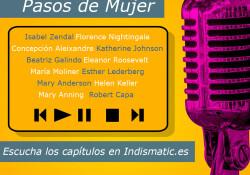 Lista con todos los podcast de pasos de mujer